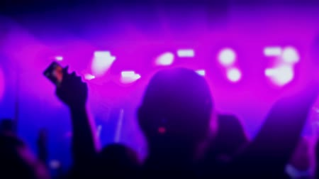 record video on your smartphone at the concert. Stock Footage