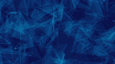 abstract movement of lines on a blue background. Stock Footage