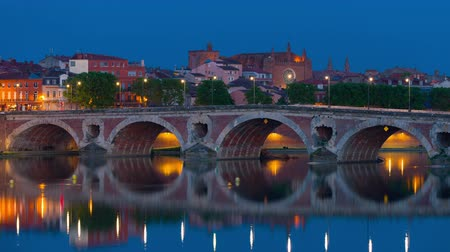 neuf : View on Toulouse in a summer night