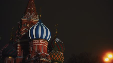 požehnat : Amazing Saint Basils Cathedral, Red Square, Moscow, night, no people, close-up