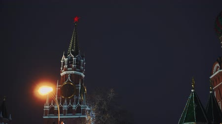 urss : Kremlin Chimes and Saint Basils Cathedral in Red Square, symbols of the country