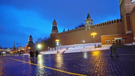 basilico : Red Square panorama cremlin clock chimes wall, red star, Saint Basils Cathedral