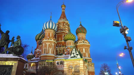 bem aventurança : Amazing Saint Basils Cathedral in Red Square, Moscow, symbol of the country