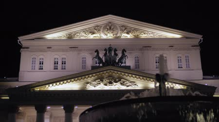 estuque : Bolshoi Theater, Moscow. Which is decorated with stucco molding and statues. 4K