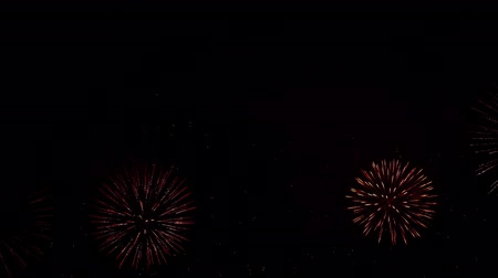 čtvrtý : Beautiful, magnificent, red, green and gold color of the dazzling fireworks. 4K Dostupné videozáznamy