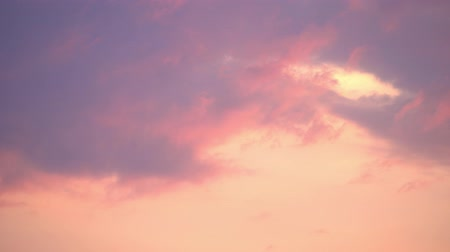 pink : Dramatic sunset. Fast moving purple, pink clouds. Evening sky. TimeLapse. 4K Stock Footage