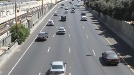 jam : Tel aviv ayalon. Cars on lanes of highway
