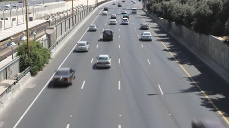 dehet : Tel aviv ayalon. Cars on lanes of highway