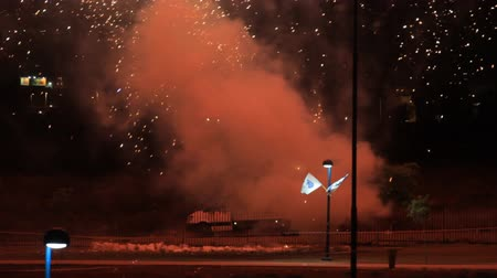 czarne : Fireworks in Israel in Independence Day