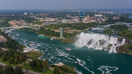 podkowa : Niagara Falls view from Skylon Tower. Canada. High quality 14bit raw video shooting