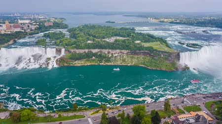 fall season : Niagara Falls view from Skylon Tower