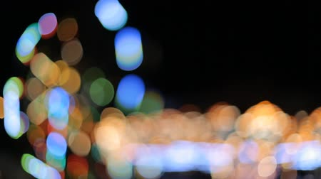 карусель : Carousel lights in amusement park at night out of focus