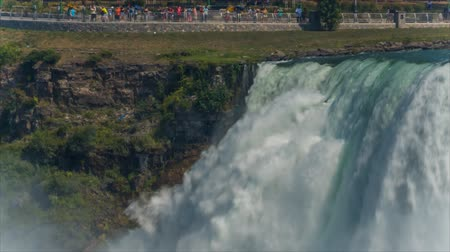 Niagara Falls from USA side. Canada Стоковые видеозаписи
