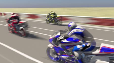 motocykl : Animation of motorcycle races 3D