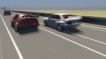 гонка : Animation of a car racing 3D