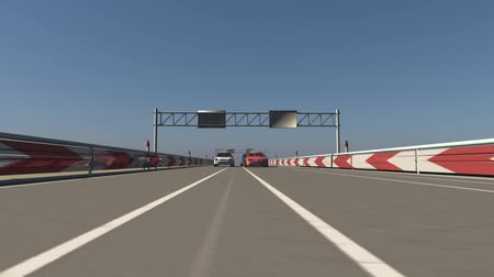 tyč : Animation of a car racing 3D