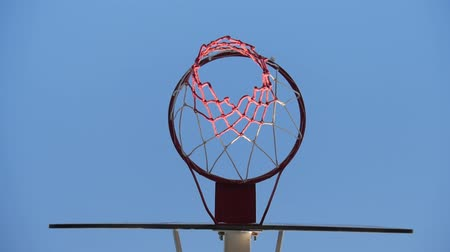 basketball : Close up of a Basketball hoop at outdoor.