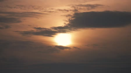 Beautiful sunset in the sky, timelapse. Stock Footage