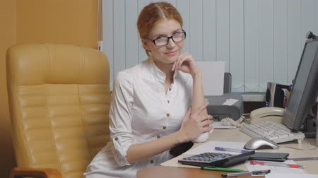 cadeira : Business Woman working at the office