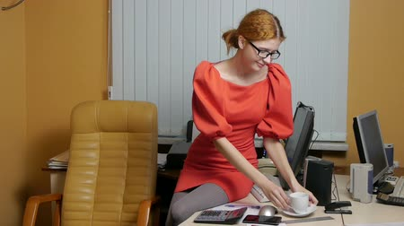 deslumbrante : Business Woman working at the office