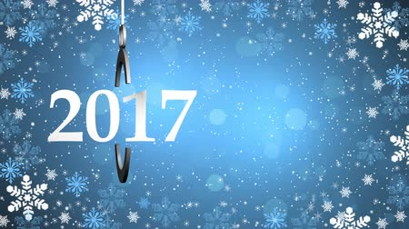 Happy New Year,Christmas,3d winter background 2017