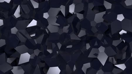 poszter : Abstract 3d rendering of triangular texture. Computer generated shine animation. Background, motion design for poster, cover, branding, banner, placard. 4k UHD