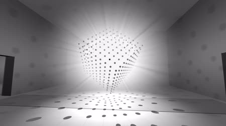 forma tridimensional : Abstract 3d rendering of star box. Computer generated shine animation. Background, motion design for poster, cover, branding, banner, placard. 4k UHD