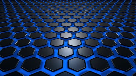глобализация : Hexagon texture black with blue background. Uhd 4k background, backdrop texture