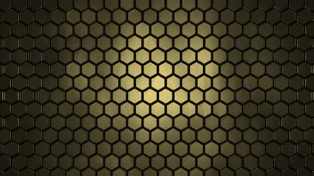 Hexagonal honeycomb texture yellow. Uhd 4k background, backdrop texture