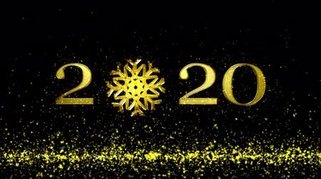 Animation 3d, Christmas background 2020 and snowflakes. New year