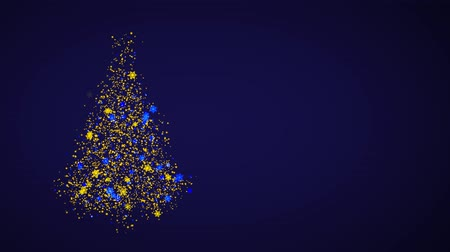 Animation 3d, Christmas tree glows and radiates joy. New year