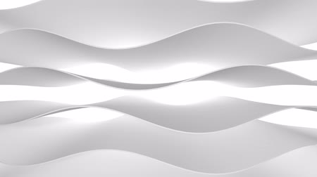 steigerung : The 3D texture of the wave is white. Smooth movement. Abstract background for business presentation.