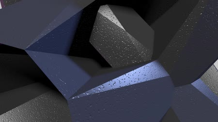artış : Animation 3D texture of rotating triangles. Abstract background for business presentation.