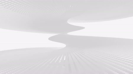 Abstract endless staircase texture on a white background. 3d animation