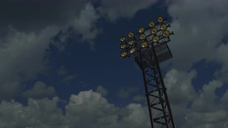 lâmpada elétrica : Lighting rack with spotlights for football stadiums and other areas. 3D rendering