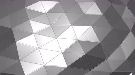 Sliding mesh texture of triangles and reflection. 3D rendering Vídeos