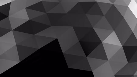 expanding : Sliding mesh texture of triangles and reflection. 3D rendering Stock Footage