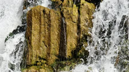 sputter : Waterfall and rocks on river Vydriha near village Belovo in Novosibirsk region, Siberia, Russia