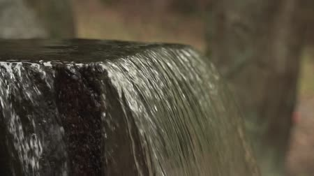 greatness : Small waterfall in deep forest in slow motion
