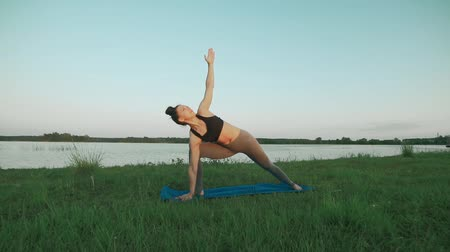 Pretty girl doing yoga. Yoga, sport, meditation and healthy lifestyle concept