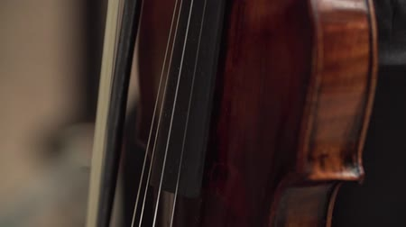 houslista : Close up view of violinist hands with violin. Dostupné videozáznamy