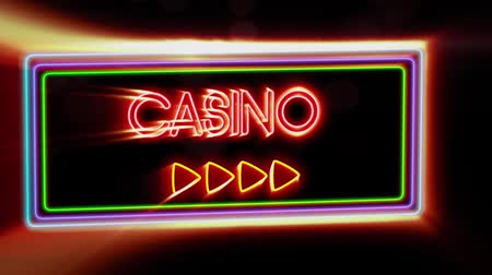 barmetro : Casino - Flashing vibrant colorful neon board background