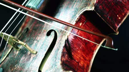 instrumento : musician playing cello closeup