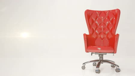 ergonomic : Red leather business chair on a light background