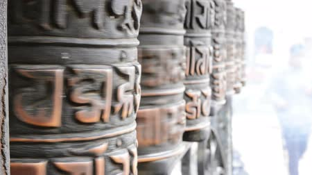 modlitba : Prayer wheels in Nepal