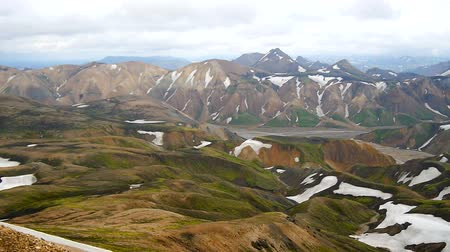 highland : Multicolored mountains at Landmannalaugar, Iceland