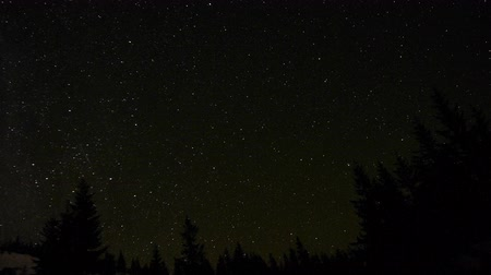 starlit : Stars in the night sky Stock Footage