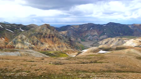 highland : Panorama mountains at Landmannalaugar, Iceland