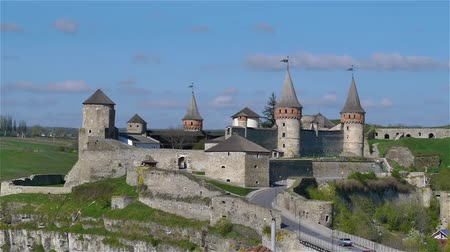wall building feature : Medieval fortress in Kamenetc-Podilsky, Ukraine.