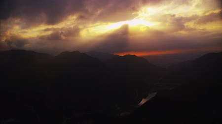 wakeup : Beautiful ising of the sun panorama, sunup Stock Footage